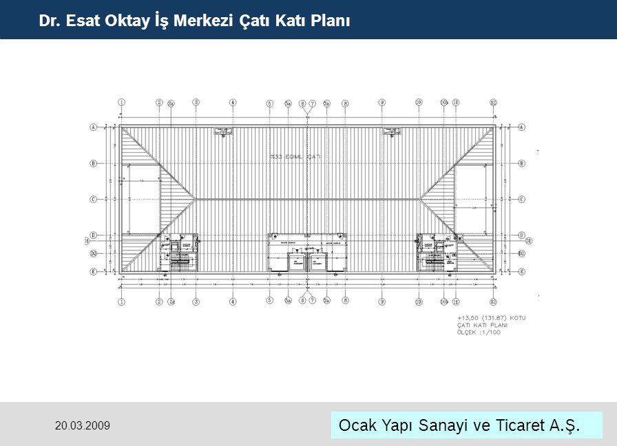 Dr. Esat Oktay İş Merkezi Çatı Katı Planı