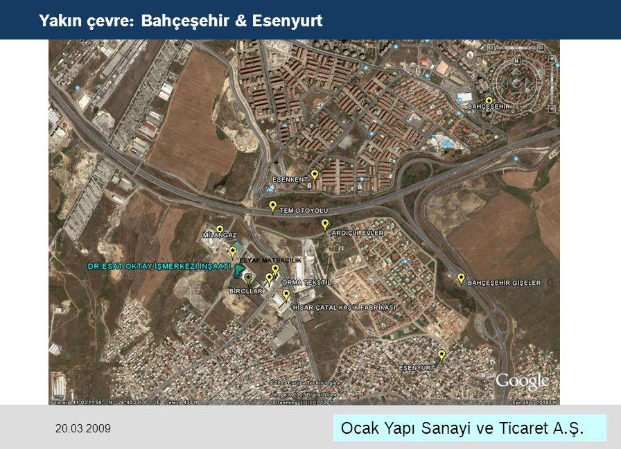 Yakın çevre: Bahçeşehir & Esenyurt