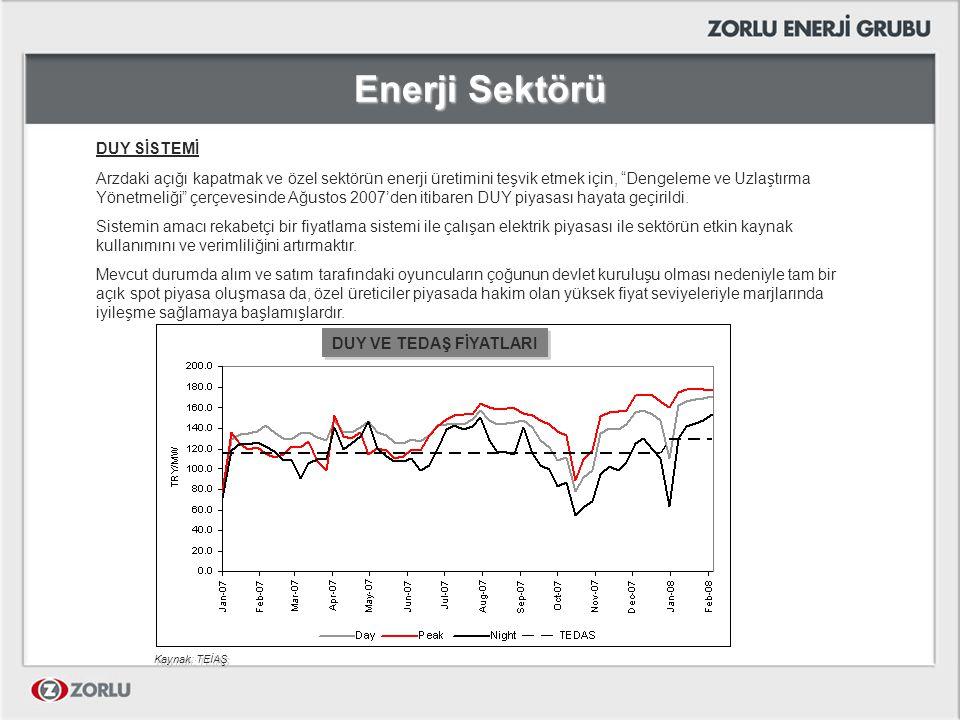 Enerji Sektörü DUY SİSTEMİ