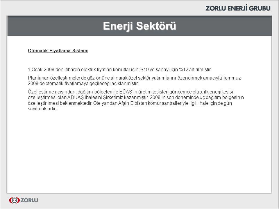 Enerji Sektörü Otomatik Fiyatlama Sistemi