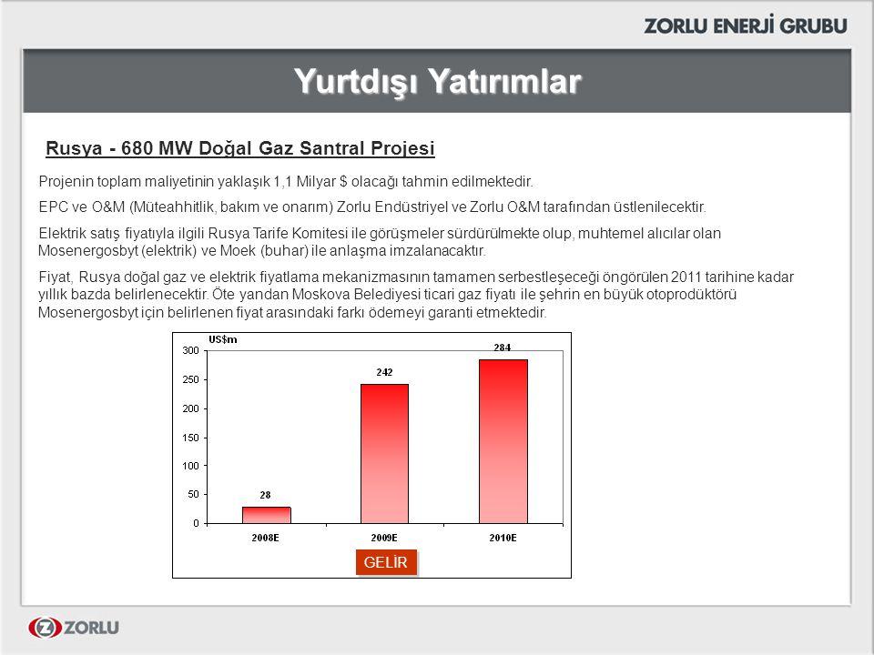 Yurtdışı Yatırımlar Rusya - 680 MW Doğal Gaz Santral Projesi