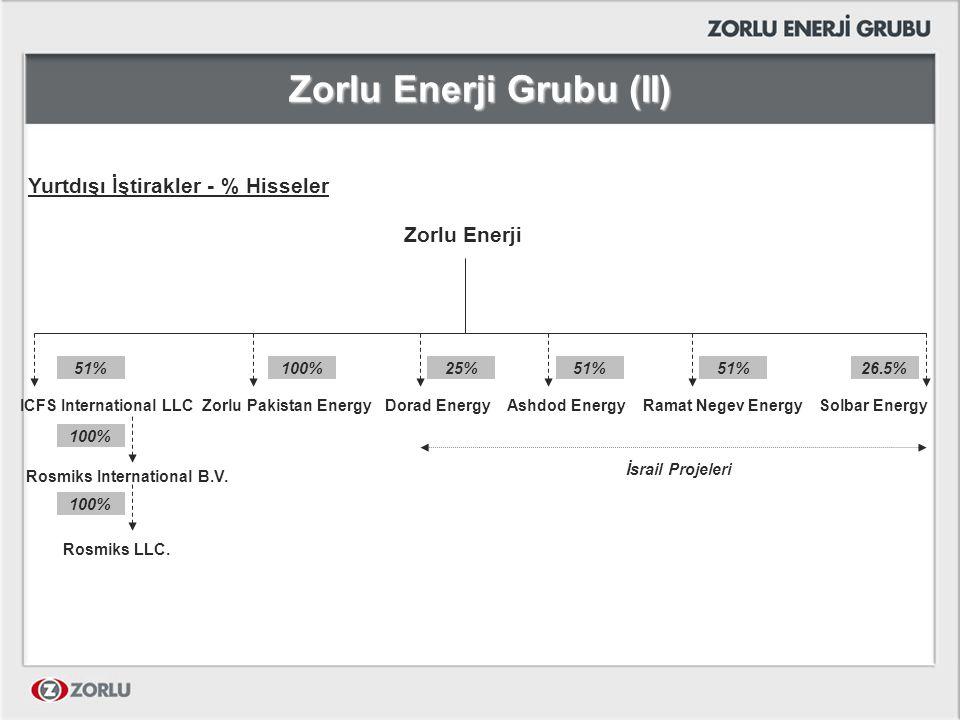 Zorlu Enerji Grubu (II)