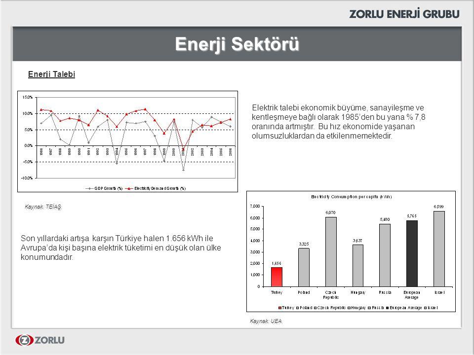 Enerji Sektörü Enerji Talebi