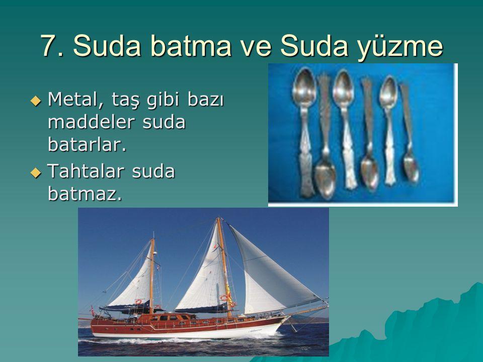 7. Suda batma ve Suda yüzme