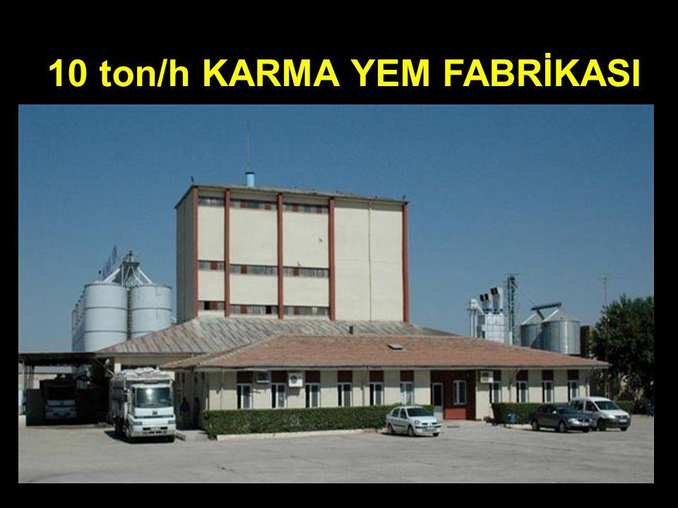 10 ton/h KARMA YEM FABRİKASI