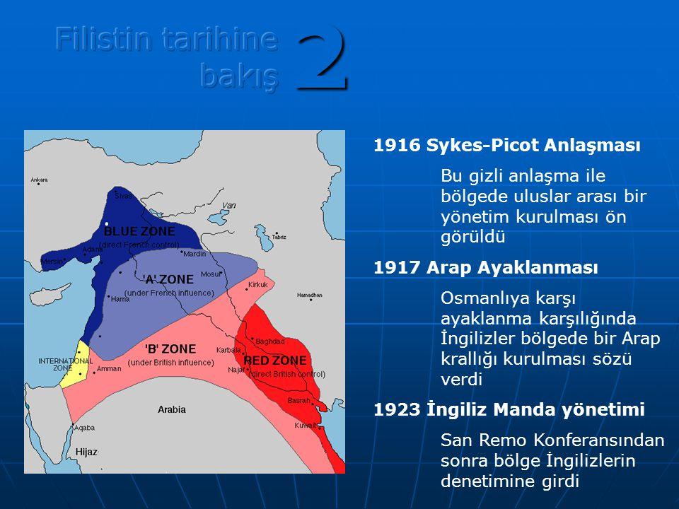 2 Filistin tarihine bakış 1916 Sykes-Picot Anlaşması