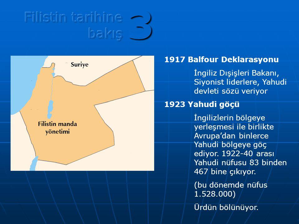 3 Filistin tarihine bakış 1917 Balfour Deklarasyonu