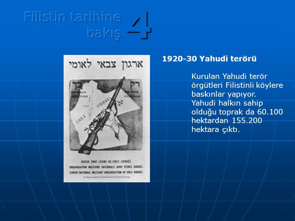 4 Filistin tarihine bakış 1920-30 Yahudi terörü