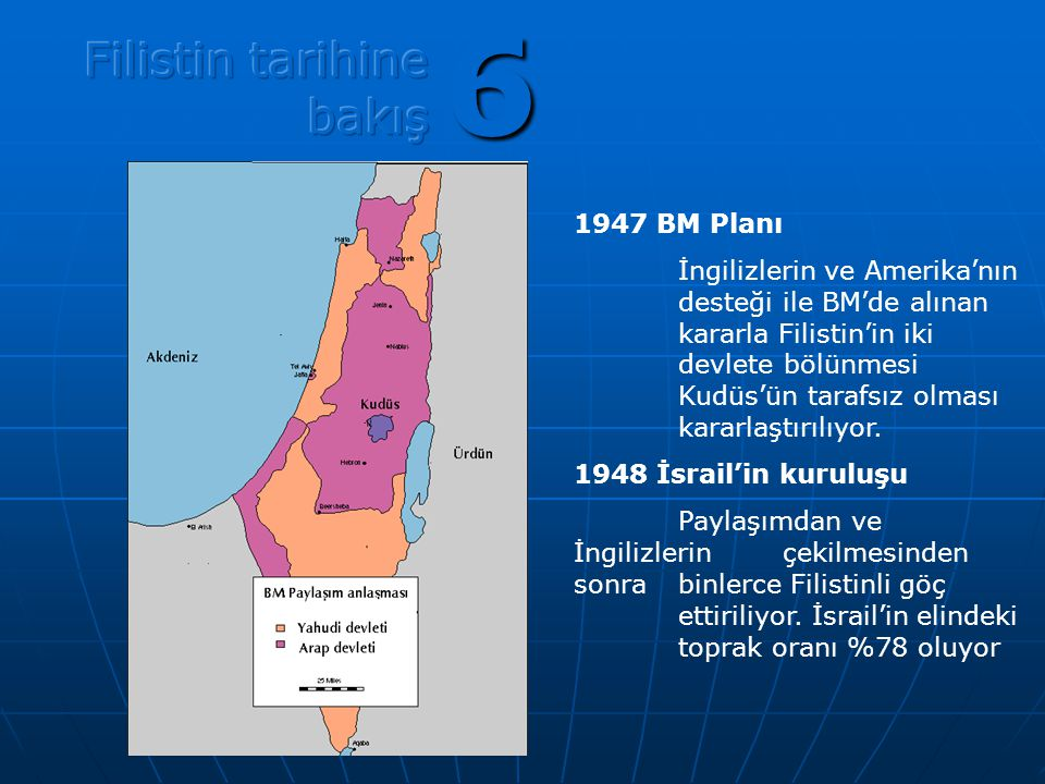 6 Filistin tarihine bakış 1947 BM Planı