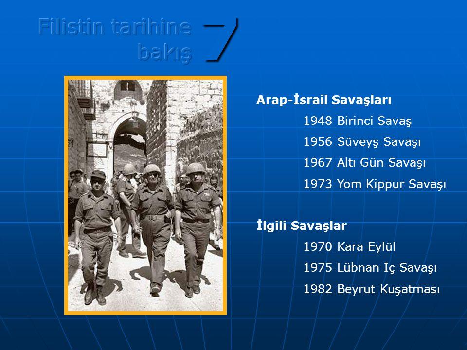 7 Filistin tarihine bakış Arap-İsrail Savaşları 1948 Birinci Savaş