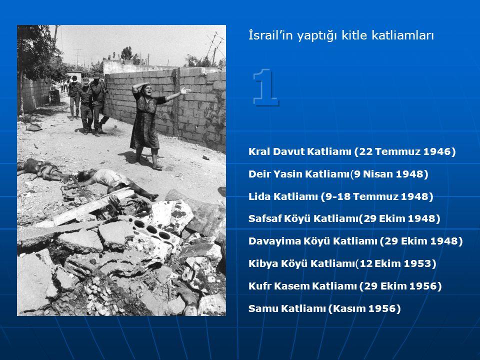 1 İsrail'in yaptığı kitle katliamları