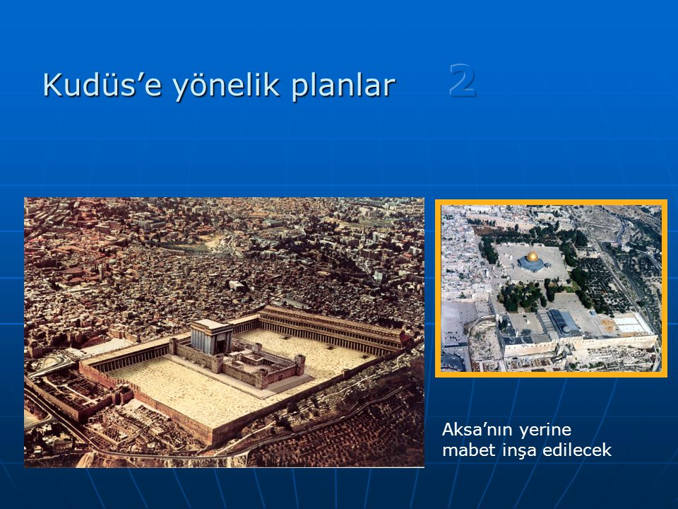 Kudüs'e yönelik planlar