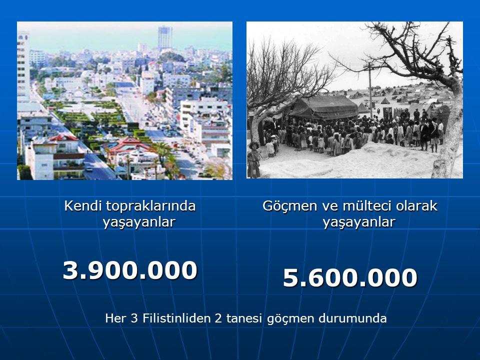 3.900.000 5.600.000 Kendi topraklarında yaşayanlar