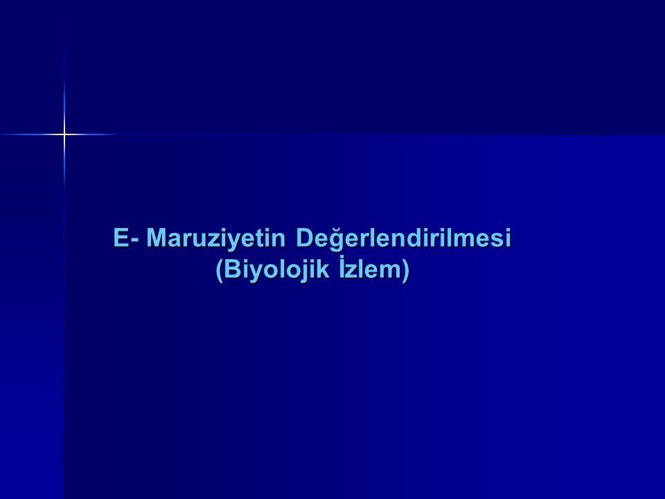 E- Maruziyetin Değerlendirilmesi (Biyolojik İzlem)