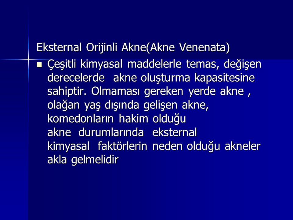 Eksternal Orijinli Akne(Akne Venenata)