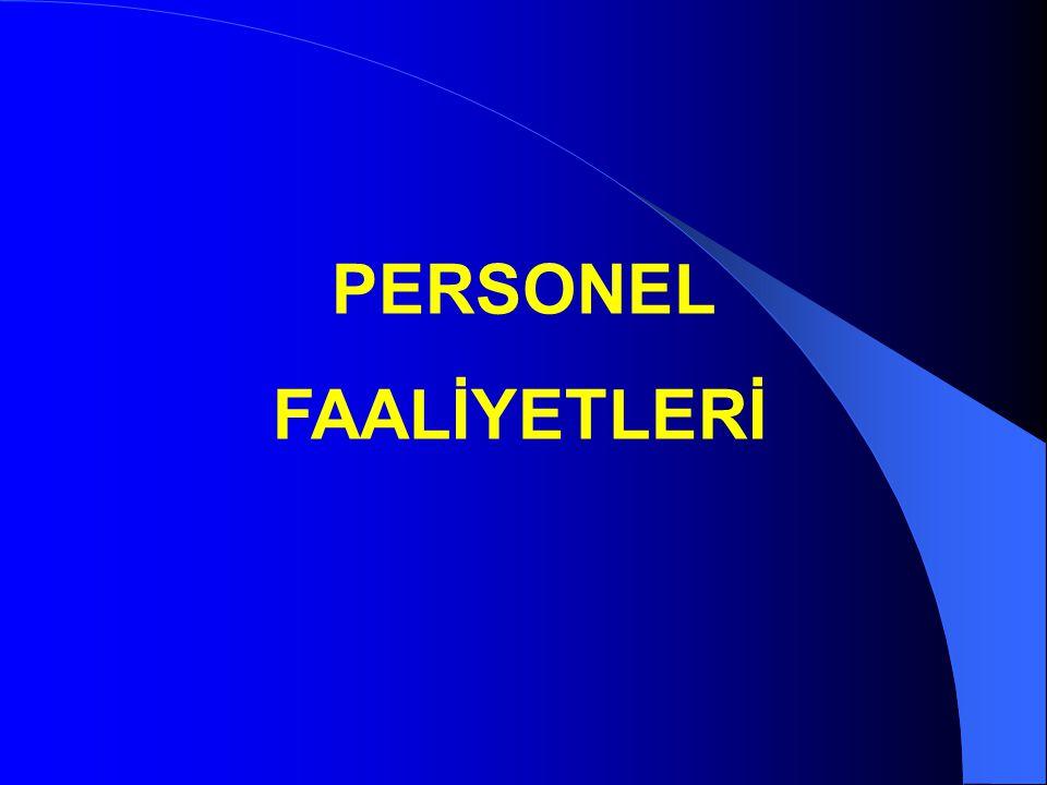 PERSONEL FAALİYETLERİ