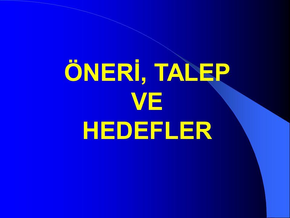 ÖNERİ, TALEP VE HEDEFLER