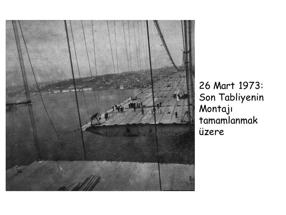 26 Mart 1973: Son Tabliyenin Montajı tamamlanmak üzere