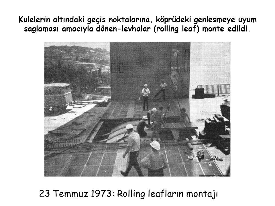 23 Temmuz 1973: Rolling leafların montajı