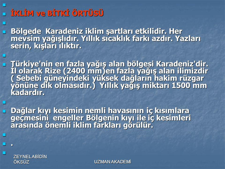 İKLİM ve BİTKİ ÖRTÜSÜ.