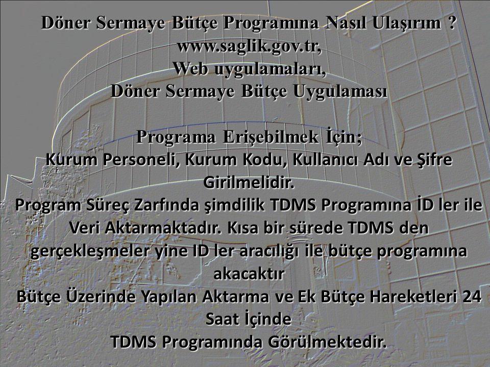 Döner Sermaye Bütçe Programına Nasıl Ulaşırım www.saglik.gov.tr,