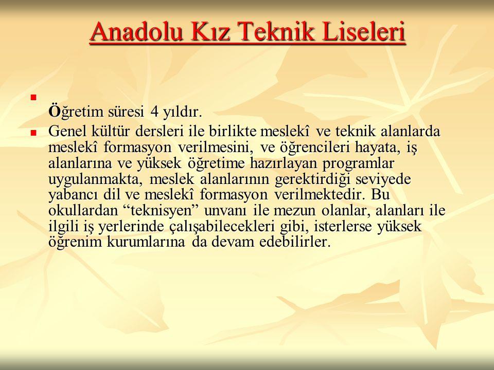 Anadolu Kız Teknik Liseleri