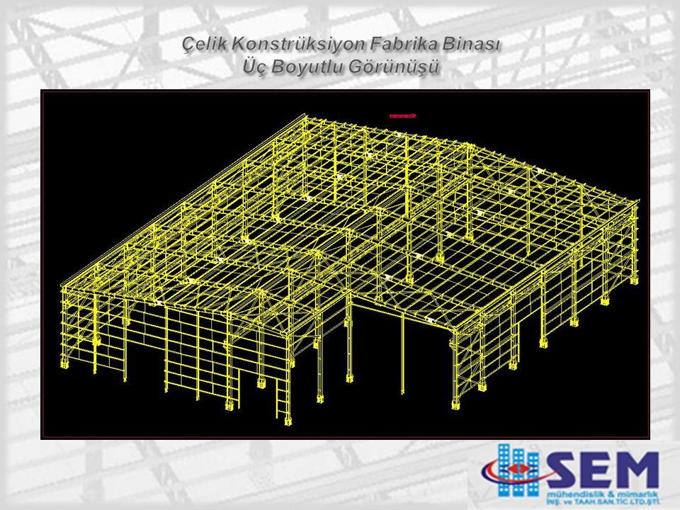 Çelik Konstrüksiyon Fabrika Binası Üç Boyutlu Görünüşü