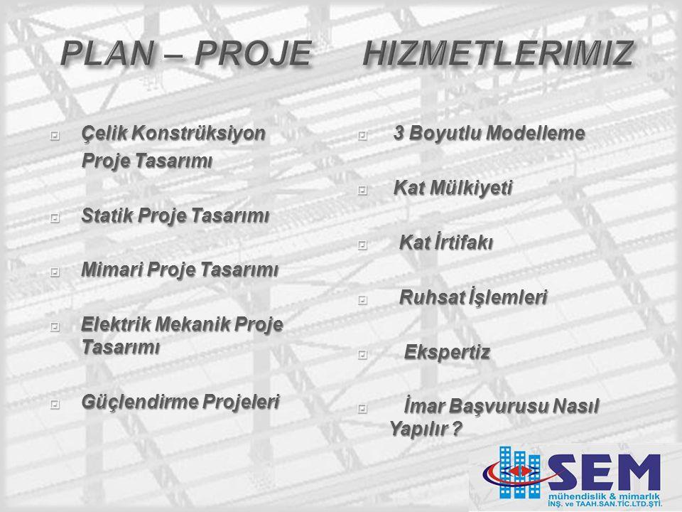 plan – proje hizmetlerimiz