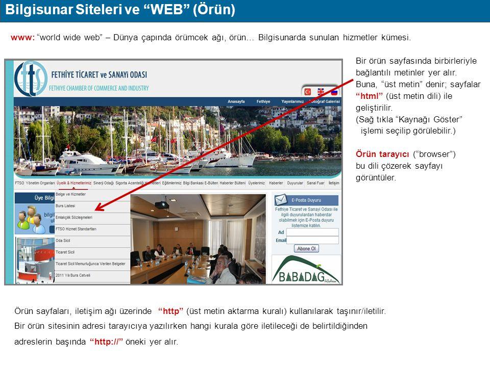 Bilgisunar Siteleri ve WEB (Örün)