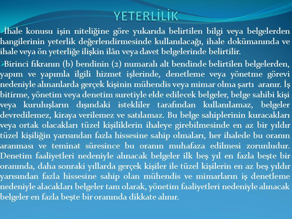 YETERLİLİK
