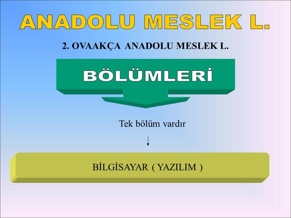 2. OVAAKÇA ANADOLU MESLEK L.