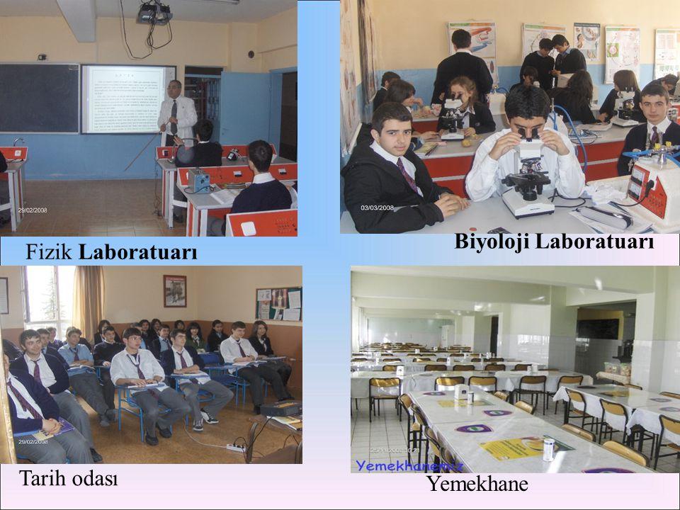 Laboratuarı Biyoloji Laboratuarı Fizik Laboratuarı Tarih odası
