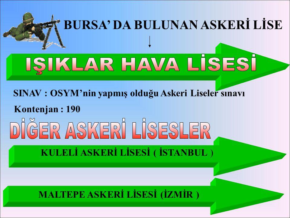 IŞIKLAR HAVA LİSESİ DİĞER ASKERİ LİSESLER