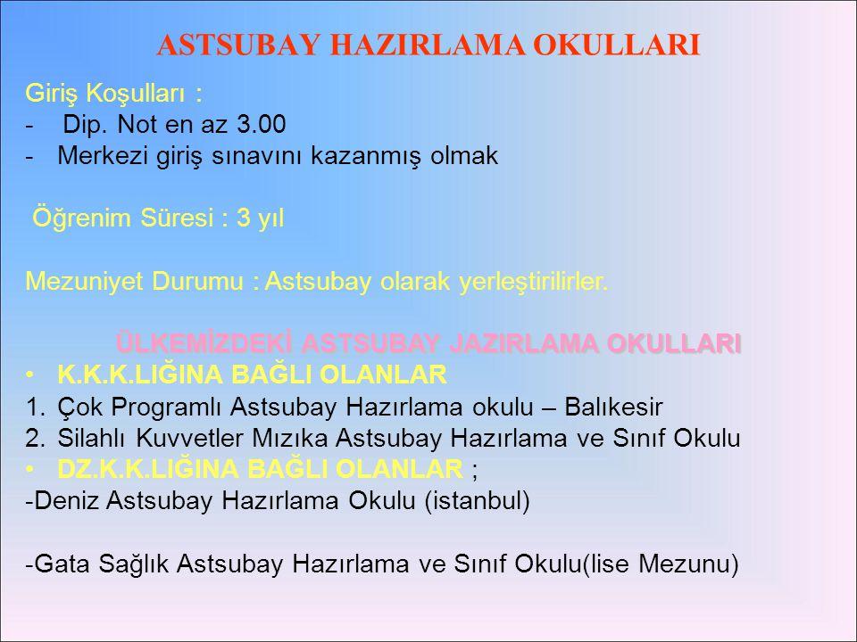 ASTSUBAY HAZIRLAMA OKULLARI