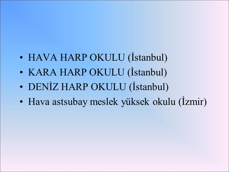 HAVA HARP OKULU (İstanbul)