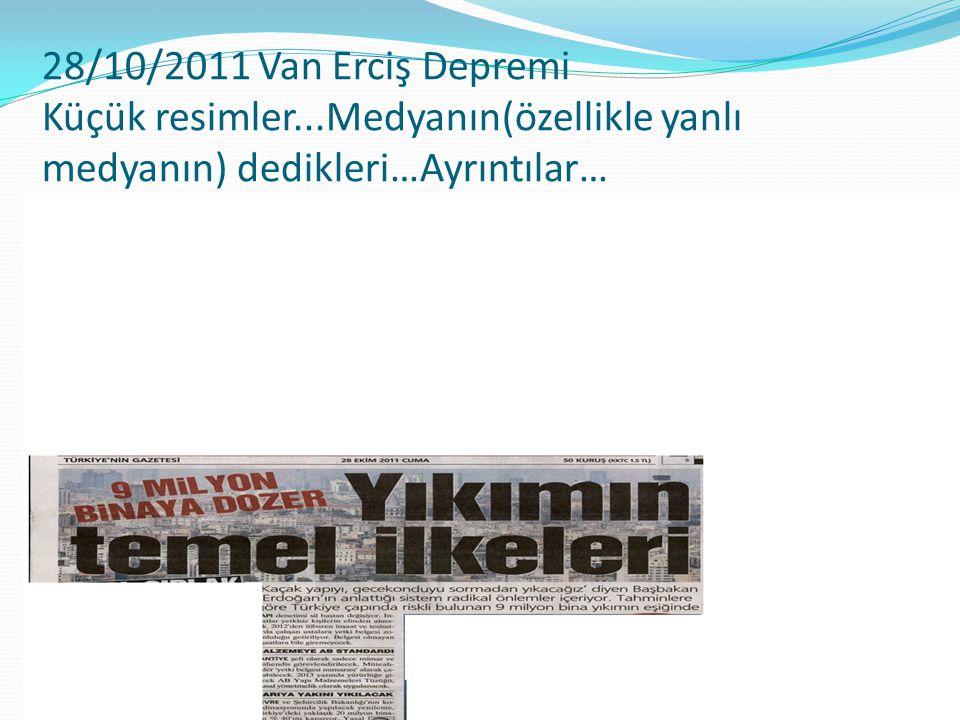 28/10/2011 Van Erciş Depremi Küçük resimler