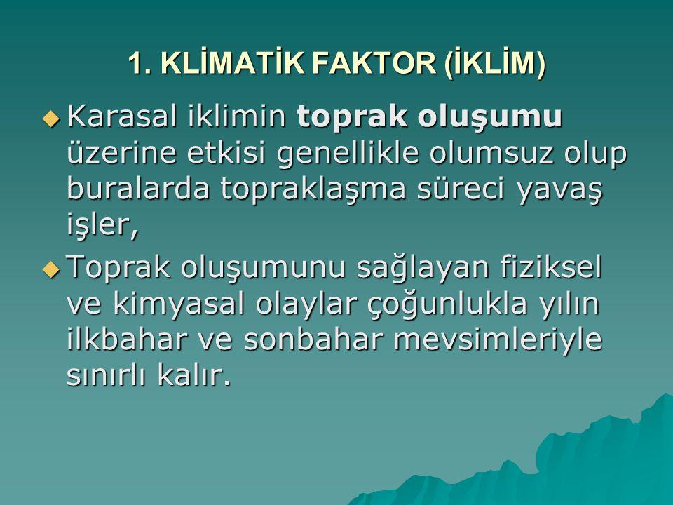 1. KLİMATİK FAKTOR (İKLİM)