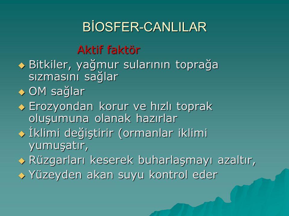BİOSFER-CANLILAR Aktif faktör