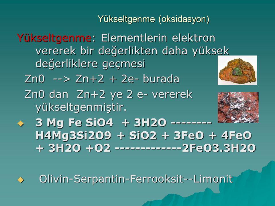 Yükseltgenme (oksidasyon)