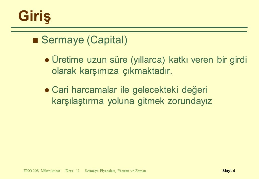 Giriş Sermaye (Capital)