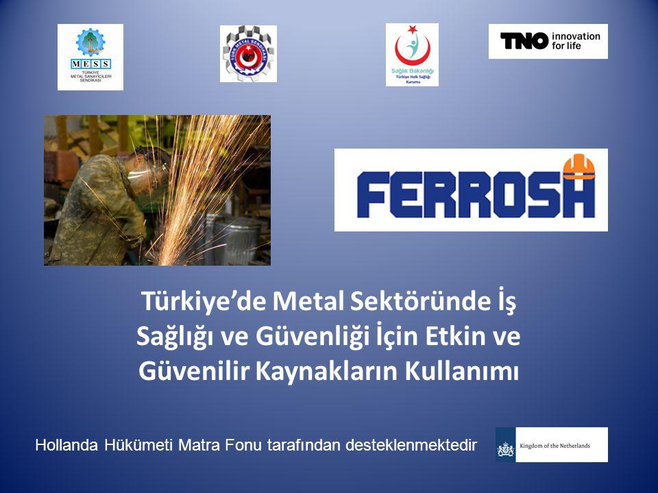 Türkiye'de Metal Sektöründe İş Sağlığı ve Güvenliği İçin Etkin ve Güvenilir Kaynakların Kullanımı