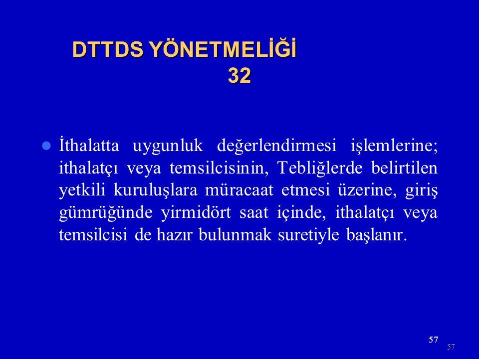 DTTDS YÖNETMELİĞİ 32