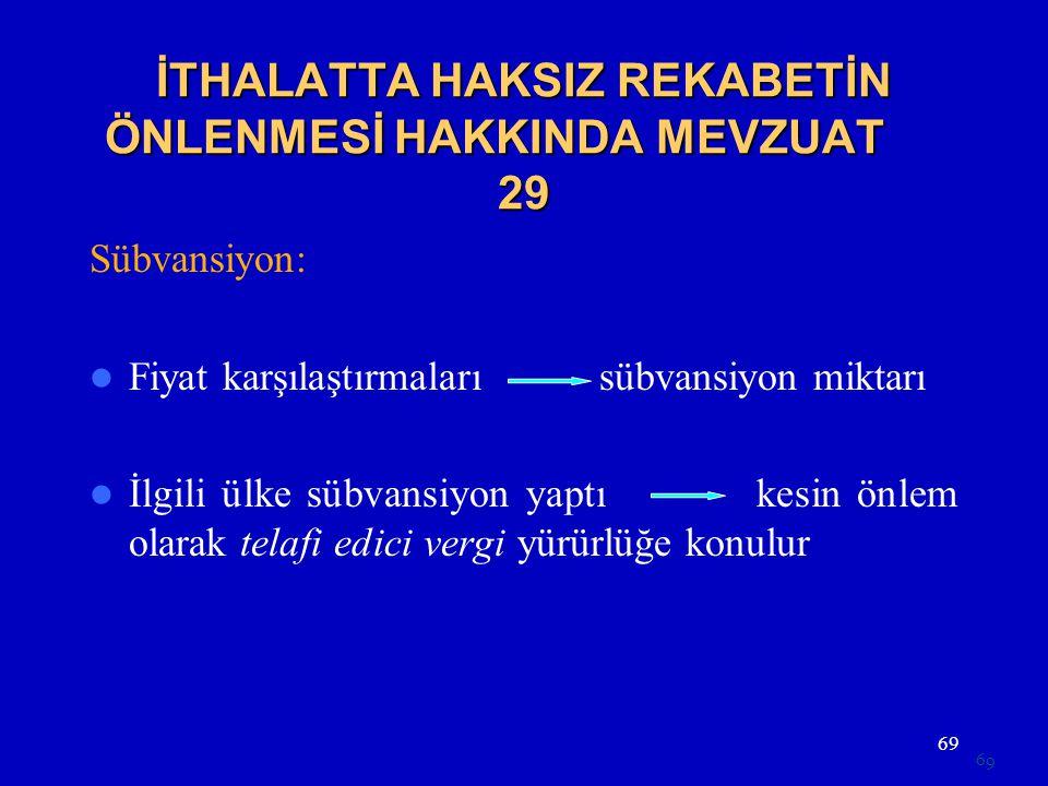 İTHALATTA HAKSIZ REKABETİN ÖNLENMESİ HAKKINDA MEVZUAT 29
