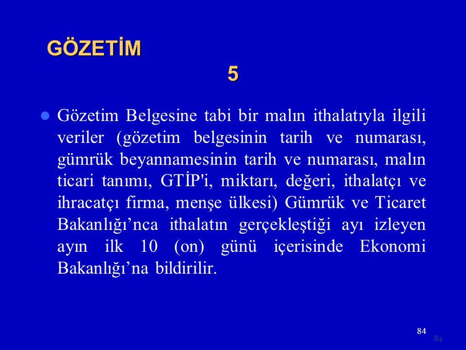 GÖZETİM 5