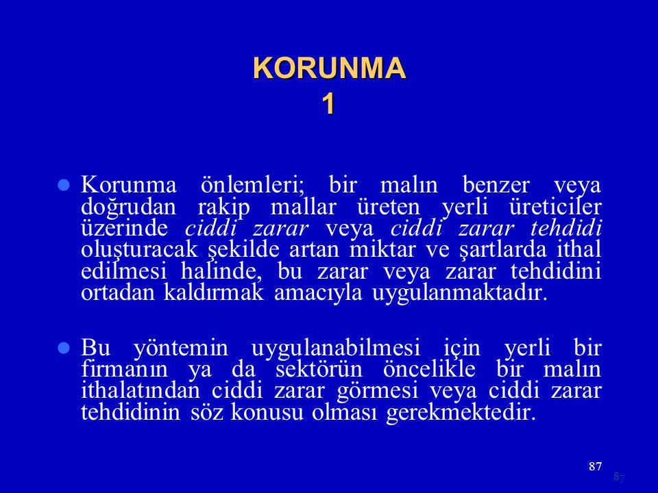 KORUNMA 1