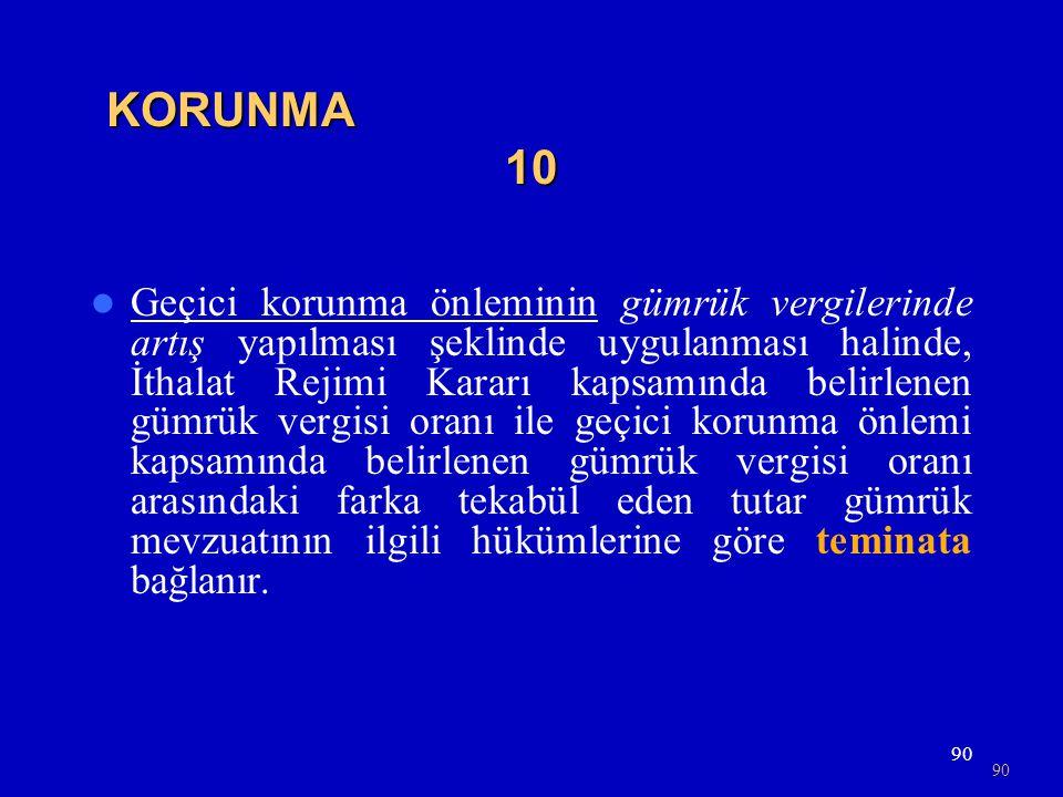 KORUNMA 10