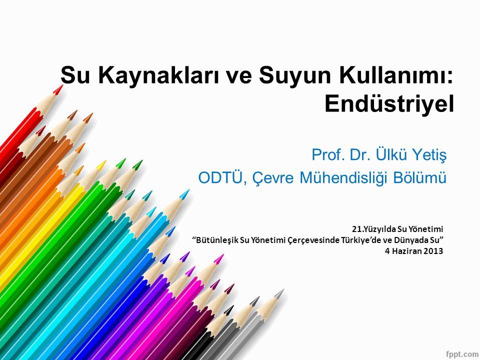 Prof. Dr. Ülkü Yetiş ODTÜ, Çevre Mühendisliği Bölümü
