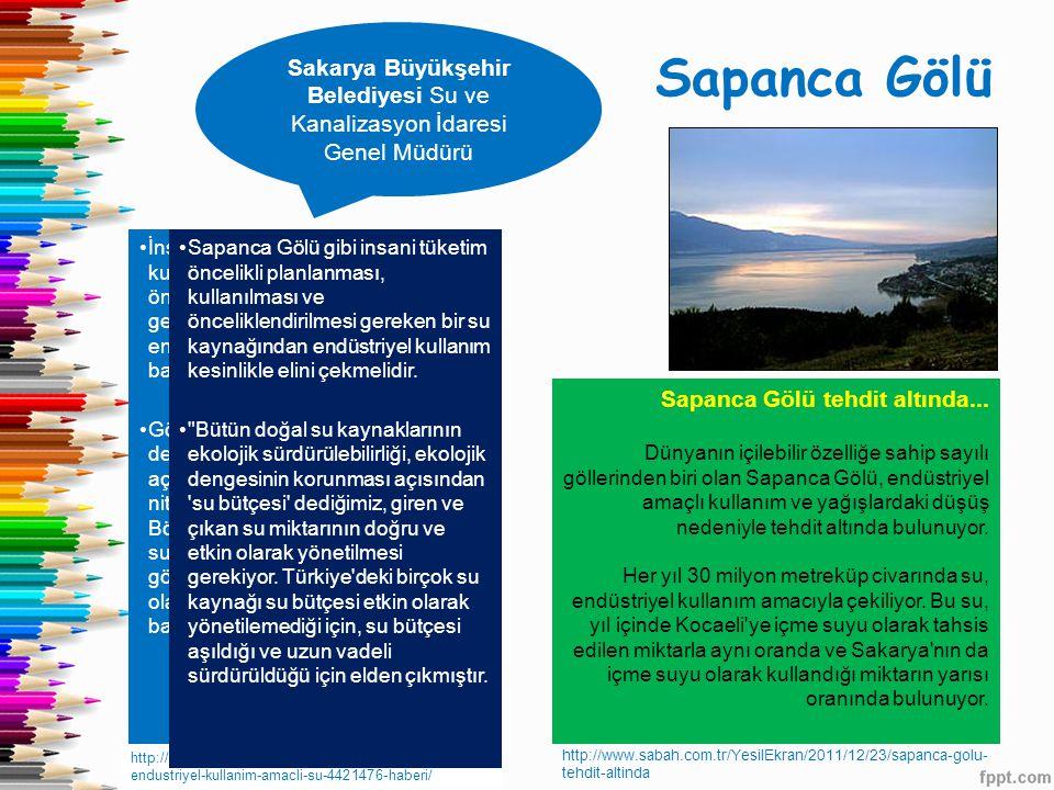 Sakarya Büyükşehir Belediyesi Su ve Kanalizasyon İdaresi Genel Müdürü