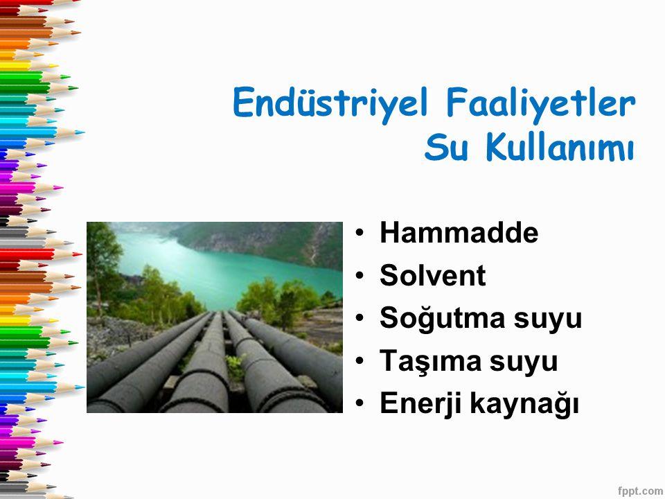 Endüstriyel Faaliyetler Su Kullanımı