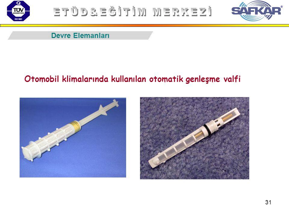 Otomobil klimalarında kullanılan otomatik genleşme valfi